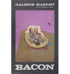 "Francis Bacon ""Lying Figure,"" 1966 lithograph."