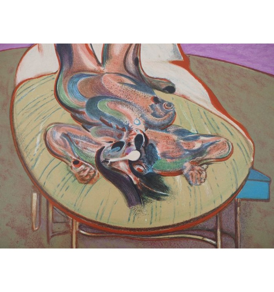 "Francis Bacon ""Lying Figure,"" 1966 lithograph."