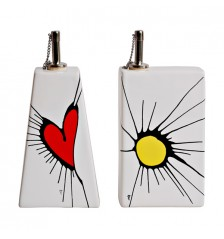 Duo Cuore-Sole Oil & Vinegar Cruets