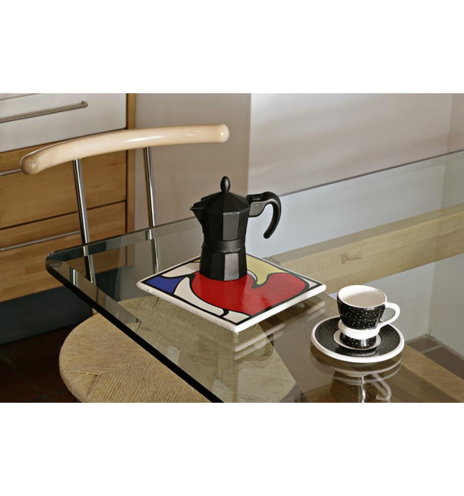 Mondrian Dreaming Ceramic Hotpad